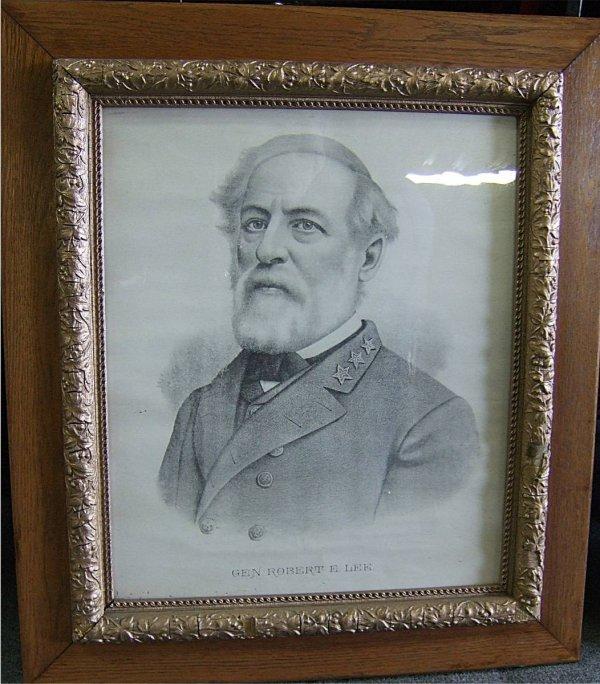 3005: Gen. Robert E. Lee Early Portrait Etching in Gold