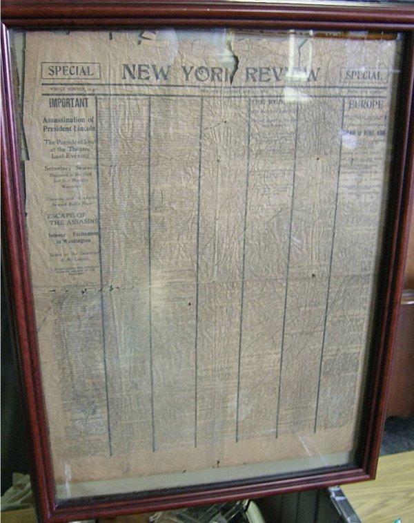 3010: Original Special Issue of President Lincoln Assas