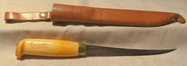 J Marttini Finland Fish Filet Knife With Leather
