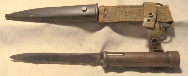 3008: Vintage Military Bayonet with Sheath