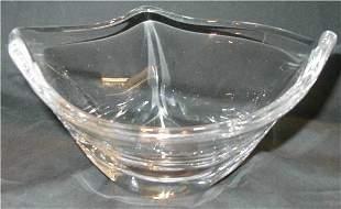 Signed Daum France Heavy Crystal Bowl