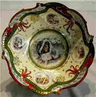 Unsigned R S Prussia Style Decorated Bowl