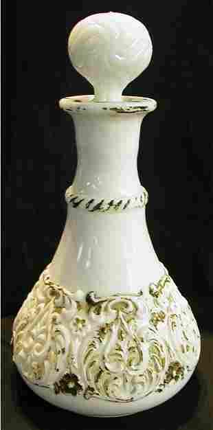 Milk Glass Victorian Decanter