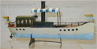 African Queen Tin Hand Made Boat