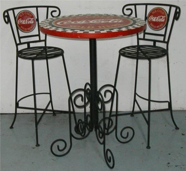 3020: Coca-Cola Ice Cream Parlor Set w/Two Chairs