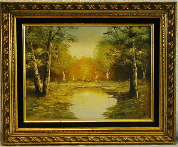3144: Signed Martin Oil Painting