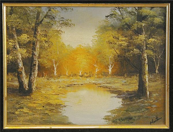 3144: Signed Martin Oil Painting - 2