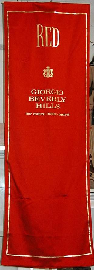 Red Giorgio Perfume Banner 72 x 24