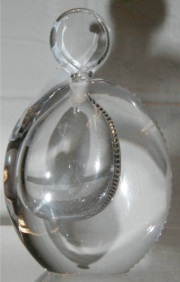 9: Kosta Crystal Perfume Bottle with Stopper