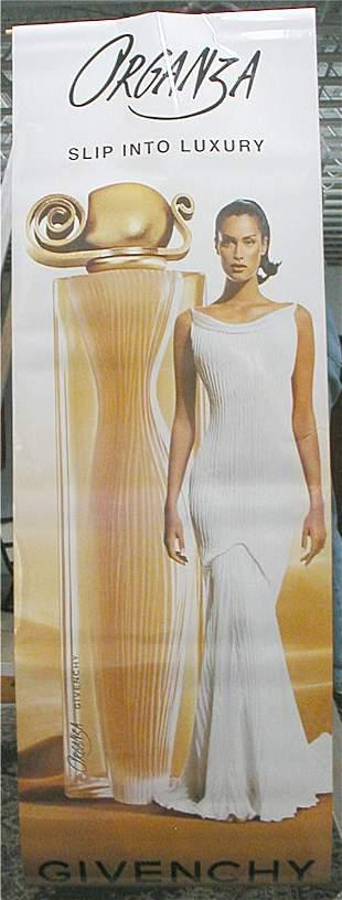 Organza Givenchy Banner, 24 x 72