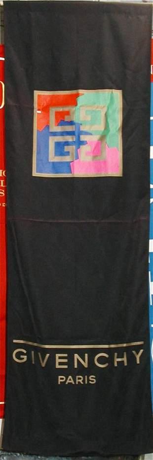 Givenchy Paris Banner Black w/ Logo 72 x 24