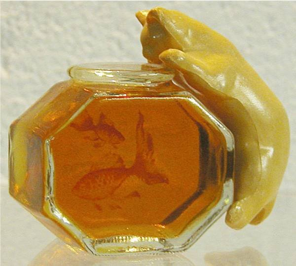 36: Avon Cat with Fish Bowl Perfume Bottle