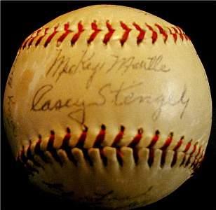 1001: Yankees Autographed Baseball