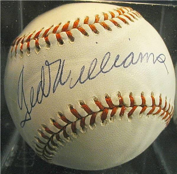 1003: Ted Williams Autographed Baseball