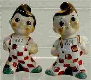 Big Boy Salt & Pepper 1970's Pair