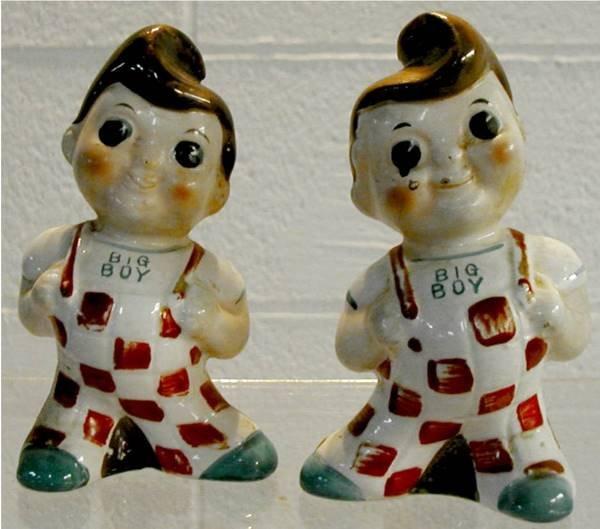 1010: Big Boy Salt & Pepper 1970's Pair