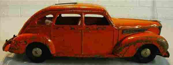 "Kingsbury Desoto, Wind Up Motor 14 1/4""Long"