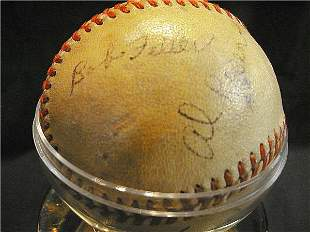 Cleveland Indians Autographed Ball