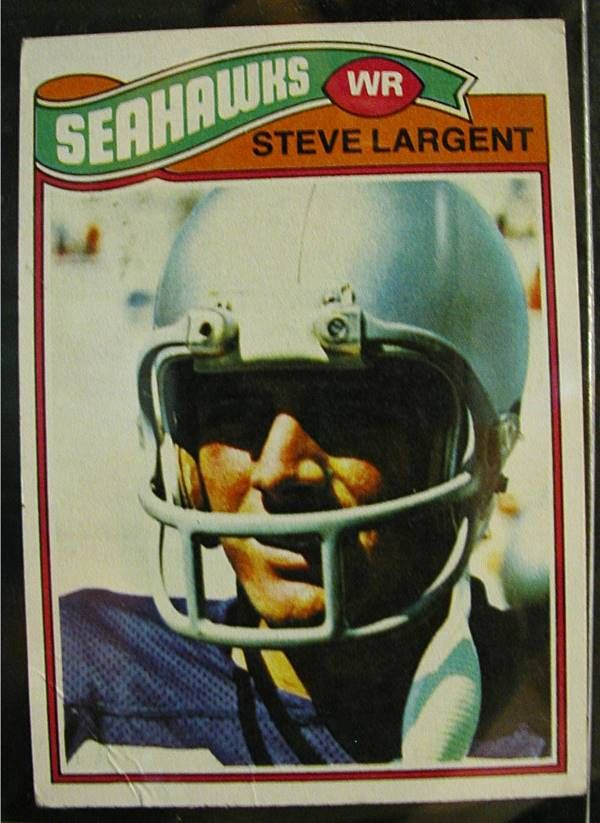 1977 Steve Largent, Seattle Football Card