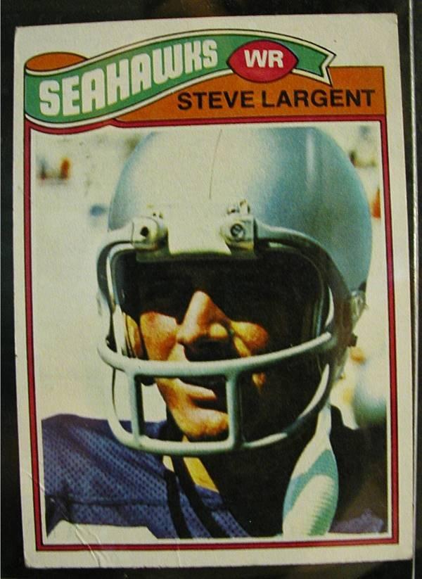 1018: 1977 Steve Largent, Seattle Football Card