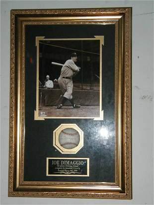Joe Dimaggio LE Autographed Baseball & Photo