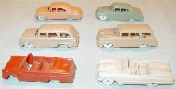 1022: F&F Mold & Die Works Plastic Cars (Set of 6)