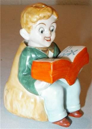Boy Nodder Reading Book Salt & Pepper