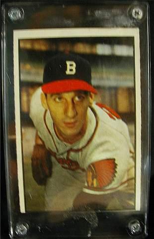 1953 Bowman Warren Spahn Baseball Card
