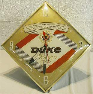 Duke Beer Advertising Clock, Works