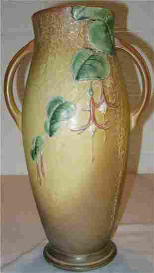 """Roseville 904-15 Fuschia Vase 15"""" High"""