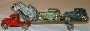 AC Wiliams Car Carrier with Three Austin Autos