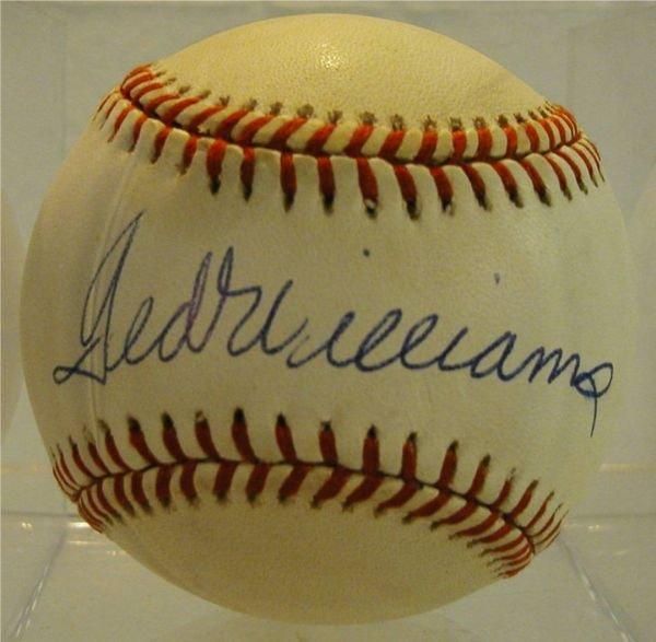 2012: Ted Williams Autographed Baseball