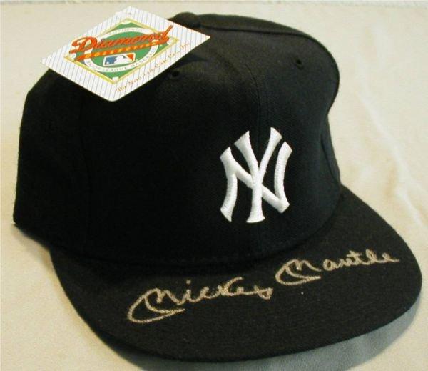 3: Autographed Mickey Mantle NY Baseball Cap