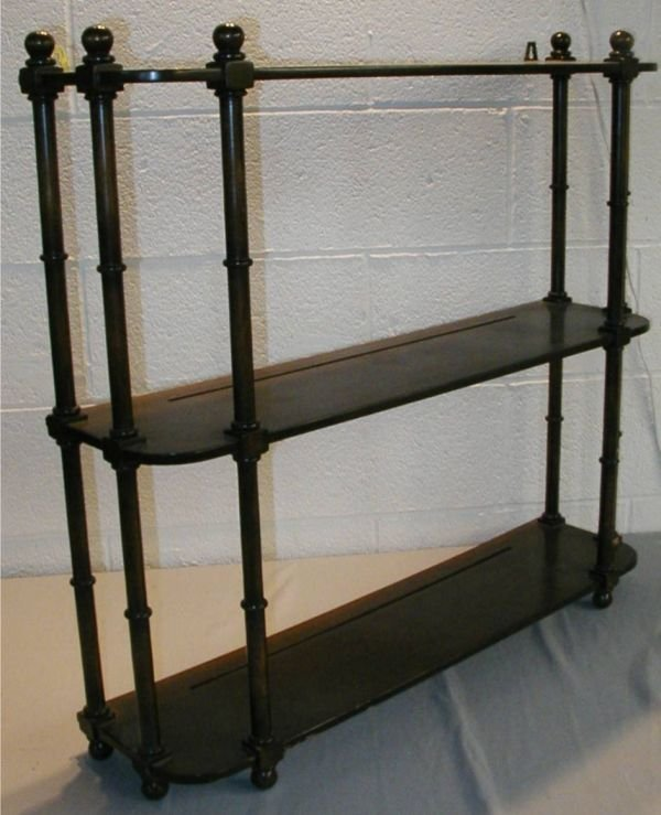 4: Three Tier Shelf Wall Unit with Six Column Supports