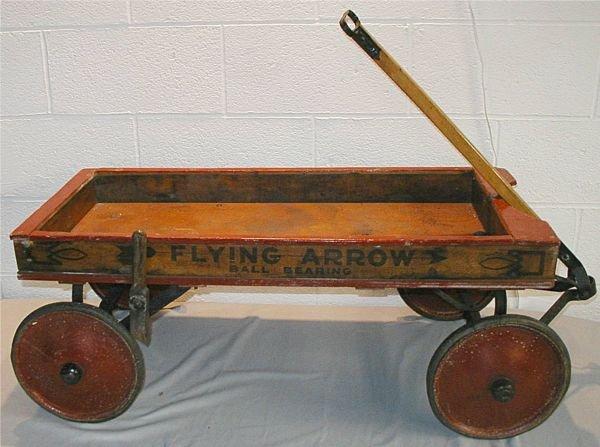 5: Flying Arrow Ball Bearing Wooden Pull Wagon