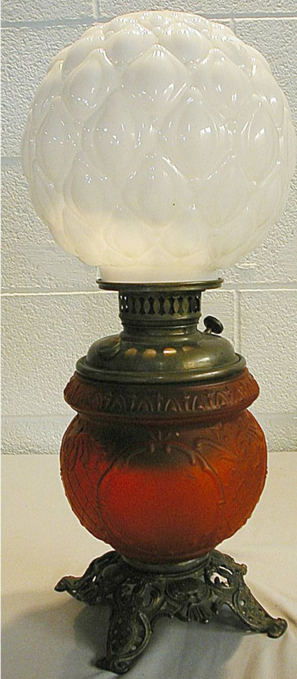 15: Victorian Oil Gone with the Wind Lamp