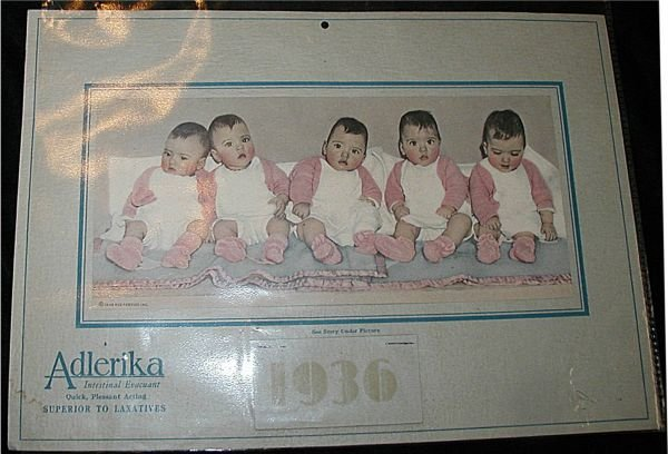 18: 1936 Calendar (Adlerika Laxative Ad) Babies