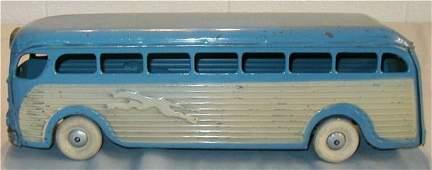 """133: Kingsbury Greyhound Bus 18"""" Long, Pressed Steel"""