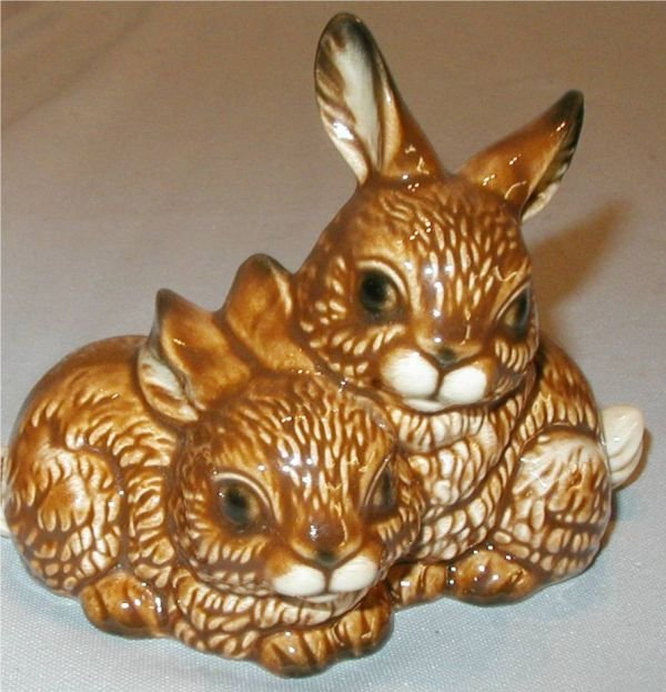 """11: Goebel #34-823-09 Bunnies, 4""""H x 5""""W x 3 1/4""""D"""