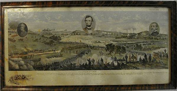1005: Print of the Battle of Gettysburg