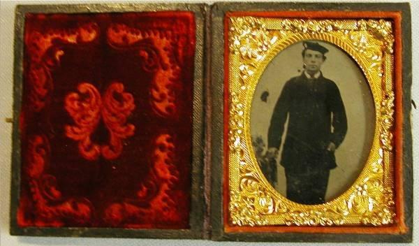 1007: Civil War Naval Cased Tin Type