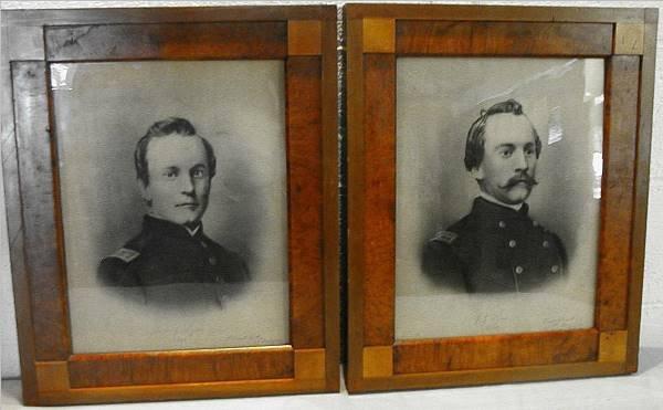 1009: Pr. Of Framed Civil War Pictures of James J. Lyon