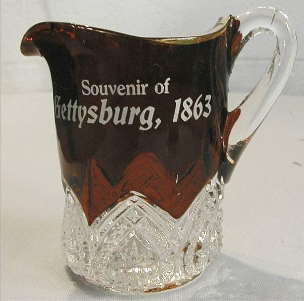 1011: Souvenir Of Gettysburg, 1863 Red Ruby Cup
