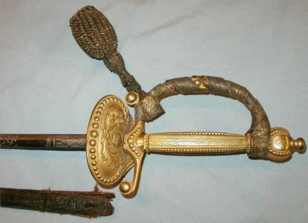 1015: J. B. Johnstone English 1800's Sword w/Pummel