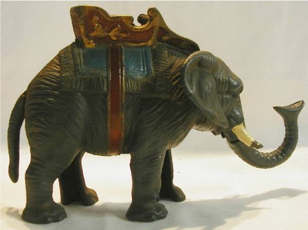 1015: Cast Iron Antique Mechanical Elephant Bank