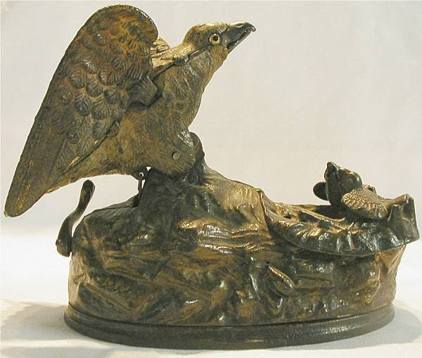 1025: Eagle and Eaglets, 1883, J & E Stevens Mechanical