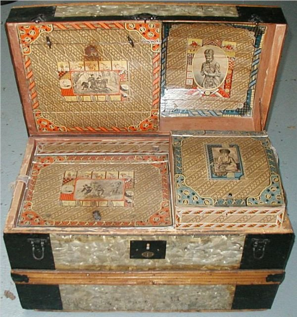1006: Complete Wallpaper & Compartment Trunk, Excellent