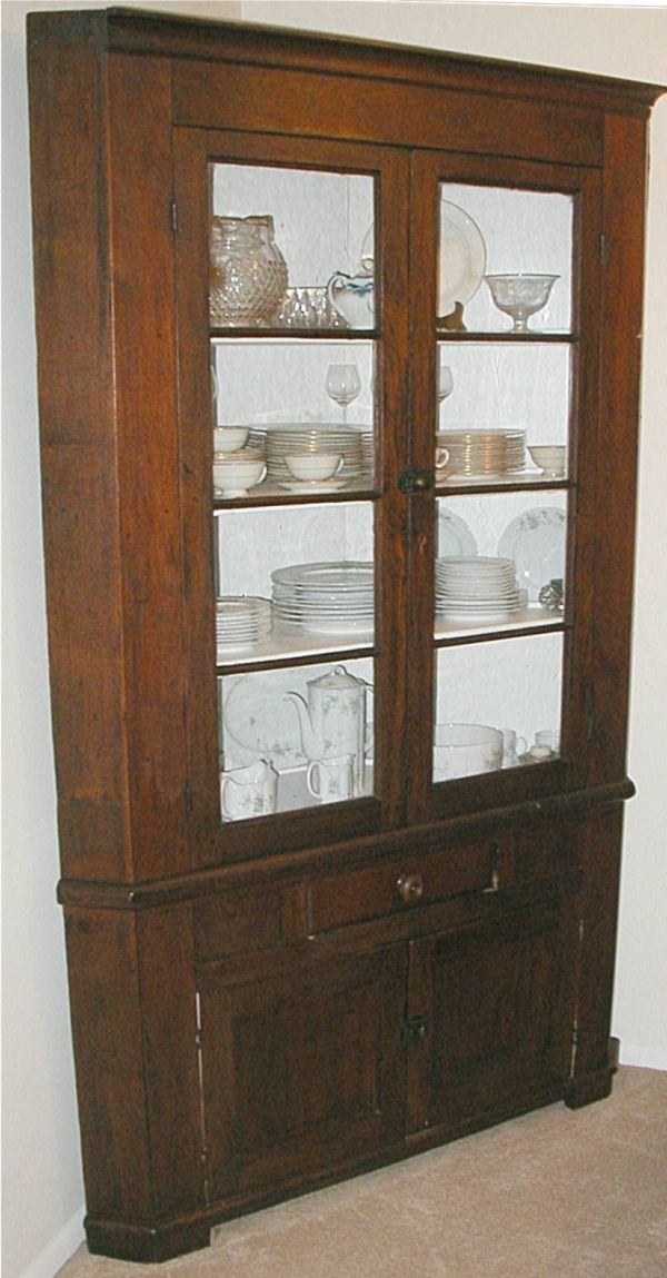 1016: Eight Pane Early 1800's Mixed Wood Primitive Cor