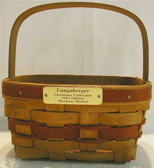 2021: Longaberger 1987 Christmas Misletoe Basket