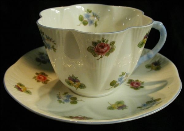 2020: Shelly Rose Pansy Forget Me Not Cup & Saucer, No.